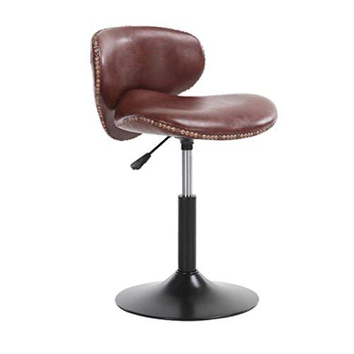 YLCJ Barhocker Stuhl Fußstütze mit PU Sitzlehne Gasfeder höhenverstellbar für Restaurant Pub | Café Eacute; Barhocker Metallgestell max. Laden Sie 200 kg