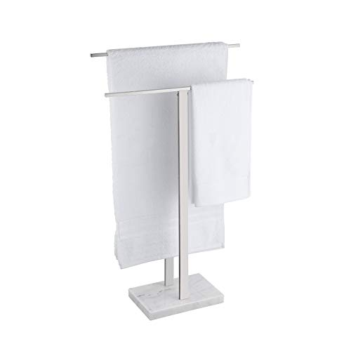 KES Freestanding Towel Rail for Bathroom Towel Stands 2-Tier Towel Rack...