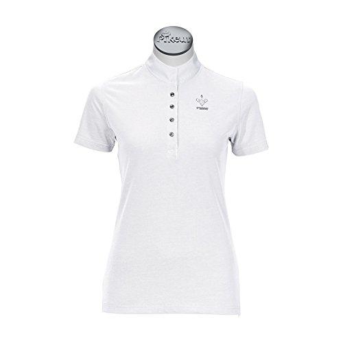 Pikeur Damen-Turniershirt halbarm, weiß, 42
