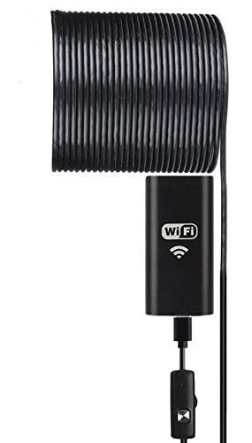 Caméra d'inspection Maso IP67 étanche sans fil HD 720p Caméra endoscopique avec un petit Crochet, WiFi Boîte Ventouse, 6 lumières LED réglable, longueur du câble 1-2 m