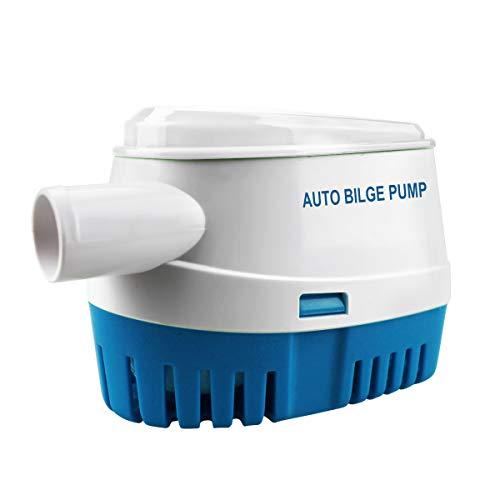 BACOENG Automatische Bilgepumpe Tauchpumpe 12 V, 70 LPM/ 1100 GPH mit Schwimmschalter