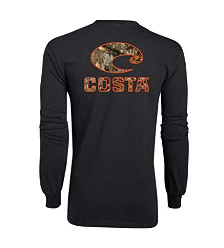 Costa Del Mar Men's Costa Short Sleeve T Shirt, Black Realtree Edge Camo, Medium
