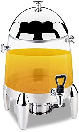 ALX-Dec Dispensador De Bebidas Máquina Expendedora De Bebidas Frías Exprimidor De Tazones Jugo De Frutas Distribuidor De Cerveza para Hoteles Juice Ding (Color: Plata, Tamaño: 35x35x50cm)
