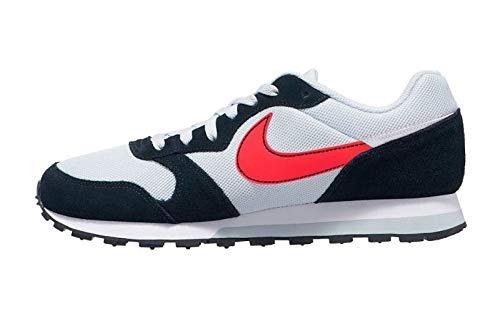 Nike MD Runner 2 ES1, Zapatillas de Trail Running Hombre, Multicolor (Pure Platinum/Flash Crimson/Black/White 1), 42 EU