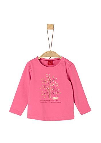 s.Oliver Baby-Mädchen 65.909.31.8966 T-Shirt, Rosa (Pink 4543), (Herstellergröße: 86)