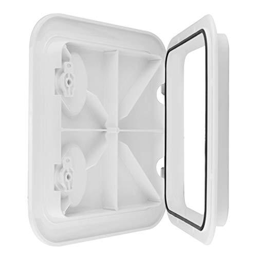 KESOTO Universal Weiß Inspektionsluke Inspektionsdeckel Lukendeckel Revisionsklappe Zugangsklappe Deckplatte, 370x375mm