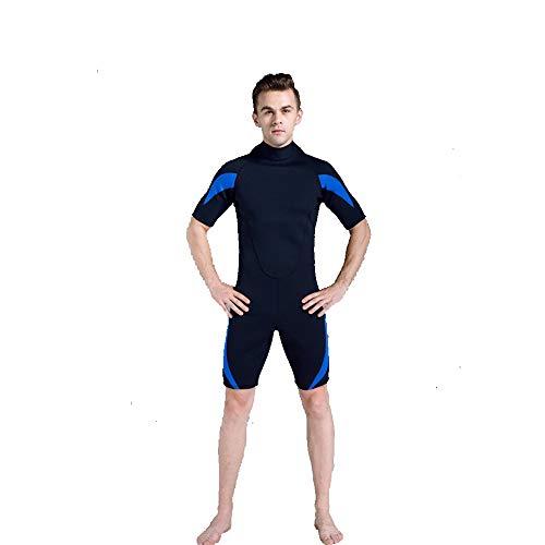 LEIAZ Traje De Buceo, Traje De Baño Protección Solar 3Mm Traje Húmedo De Una Pieza Masculino Snorkel Manga Corta Adecuado para Nadar, Surfear.