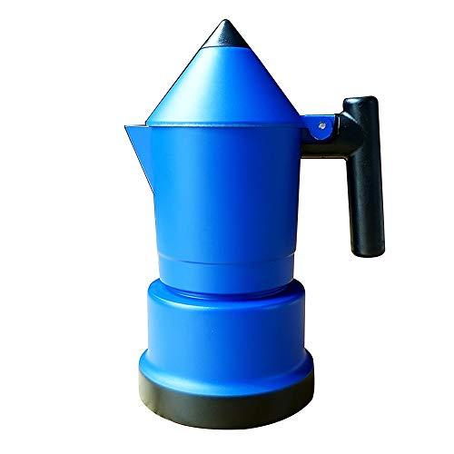 Sunferkyh Cafetera Moca Forma Infantil lápiz Sola válvula Mocha Pot hogar Mocha Cafetera Cafetera Cafetera exprés (Color : Azul, tamaño : 2 Cup)