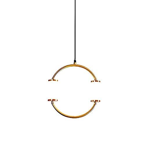 Dormitorio, toda la lámpara de cobre redonda, sala de estar, villa, comedor, lámpara de araña-Estilo 2_Talla única