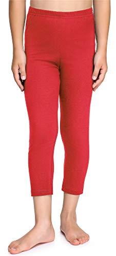 Merry Style Leggins Mallas Pantalones Piratas Ropa Deportiva Niña MS10-226(Rojo, 134 cm)