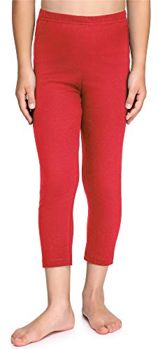 Merry Style Leggins Mallas Pantalones Piratas Ropa Deportiva Niña MS10-226(Rojo, 110 cm)