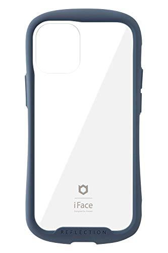 iFace Reflection iPhone 12 mini ケース iPhone2020 5.4インチ クリア 強化ガラス [ネイビー]
