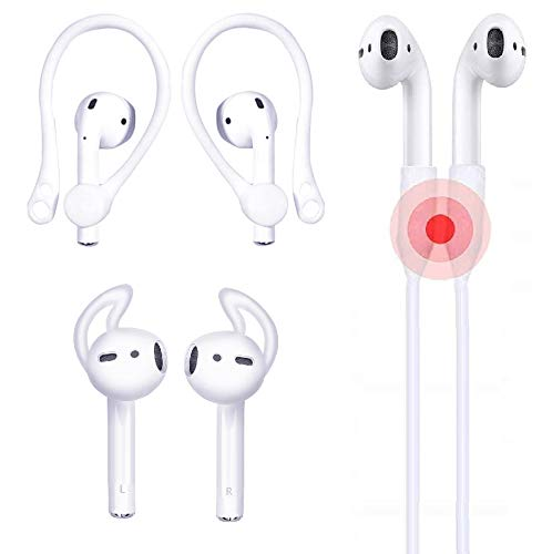JNSA Ear Hook for AirPods Comfort Lightweight AirPods EarHooks Clear Anti Slip, Anti Drop, Anti Lost Compatible with AirPods1 /& AirPods2