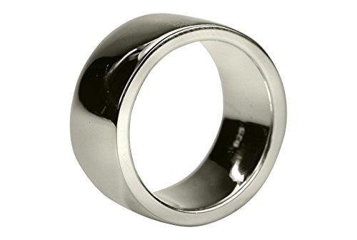 SILBERMOOS Anillo de mujer y/o hombre alianza anillo de pareja brillante macizo Plata esterlina 925, Tamaño del anillo:22