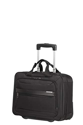 Samsonite Vectura Evo Roller Cases, Laptop Bag with 2 Roles 15.6 inch (42cm-20.5L), Black (Black)