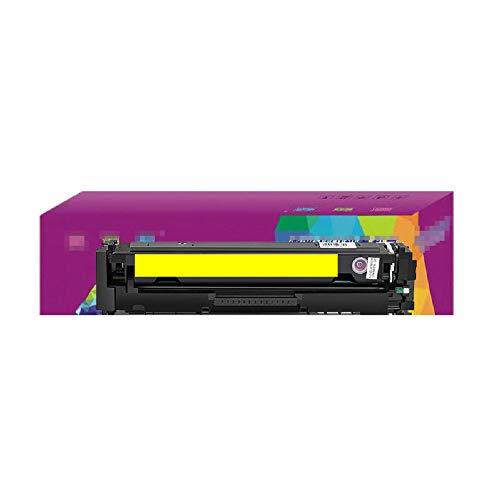 WQJIE 1400-pagina kleur laser printer toner cartridge, voor HP cf510 gemakkelijk toe te voegen poeder m181fw m254d toner cartridge, m154a inktcartridge 204a huishoudelijke 180n met chip Retro size Geel