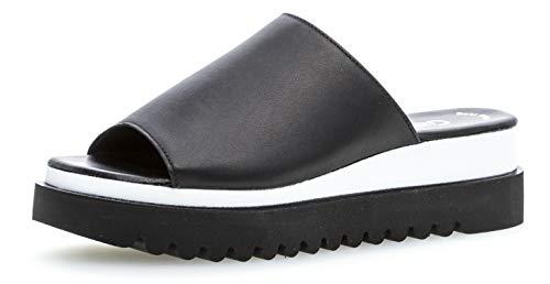 Gabor 23.613 Damen ClogsPantoletten,Clogs&Pantoletten, Frauen,Pantolette,Hausschuh,Pantoffel,Slipper,Slides,Best Fitting,schwarz,9 UK