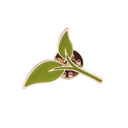 Mode Emaille Pin Brosche Cartoon Pflanze Blätter Gras Berg Broschen für Frauen Denim Mantel Paket Pins Metall Abzeichen Schmuck Geschenk