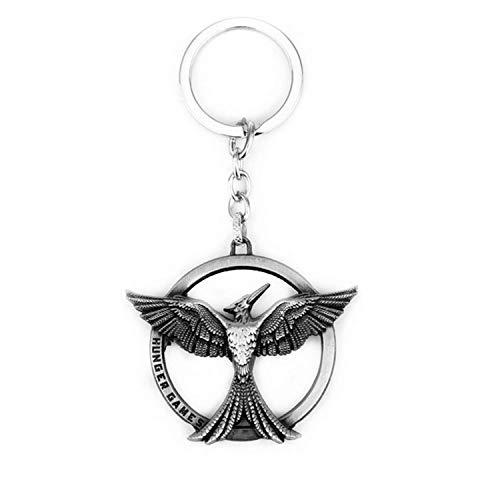 Llavero con logotipo de pájaro de The Hunger Games Sockingjay de doble cara con colgante de círculo de tótem, regalo para hombre y mujer