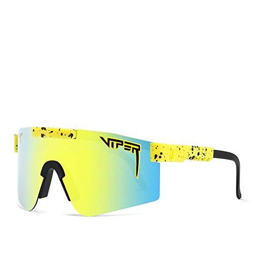 Pit Viper Gafas de sol, gafas de sol polarizadas Uv400 para mujeres y hombres, gafas de sol al aire libre, resistentes al viento, lentes de espejo UV