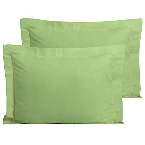 FLXXIE 2 Pack Microfiber Standard Pillow Shams, Ultra Soft and Premium Quality, 20' x 26' (Green, Standard)