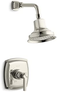 Kohler TLS16234-4-SN K-TLS16234-4-SN Margaux Rite-Temp Shower Valve Trim with Lever Handle, Less showerhead Vibrant Polished Nickel