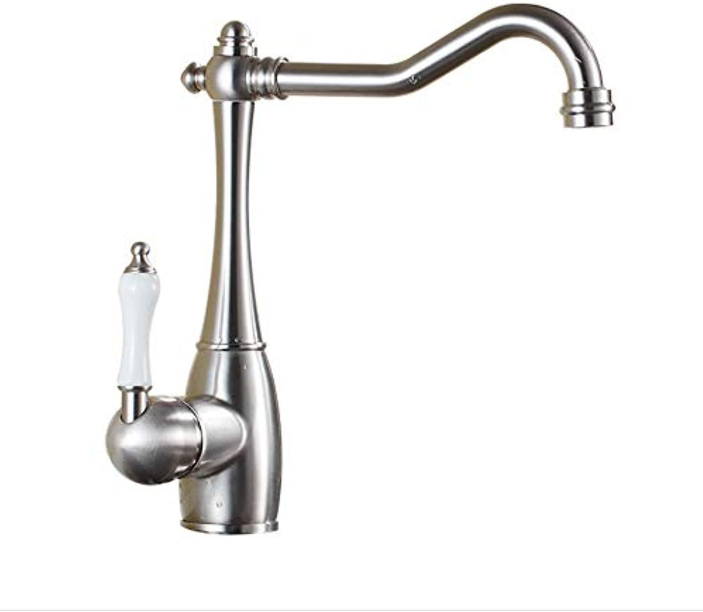 Wasserhahn Europischen High-End Gebürstet Küchenarmatur Drehspüle Spüle Heien Und Kalten Wasserhahn