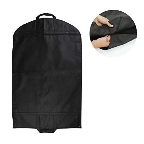 f/ür Hemden Schwarz grau Kleider Rei/ßverschluss atmungsaktiv MISSLO Kleidertasche mit Rei/ßverschluss M/äntel