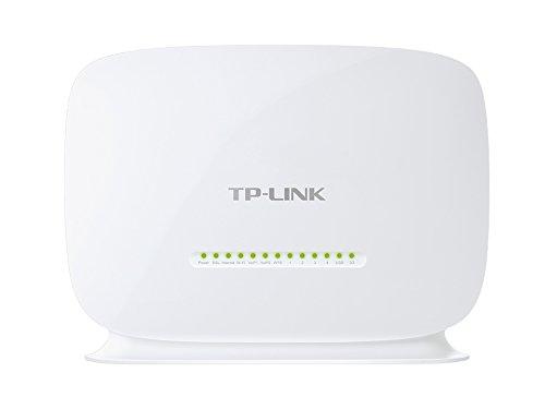 TP-Link Wireless N VoIP VDSL/ADSL Modem Router, 1 USB, 2.0 Port, einfache Installation, Kindersicherung, UK-Stecker (TD-VG5612)