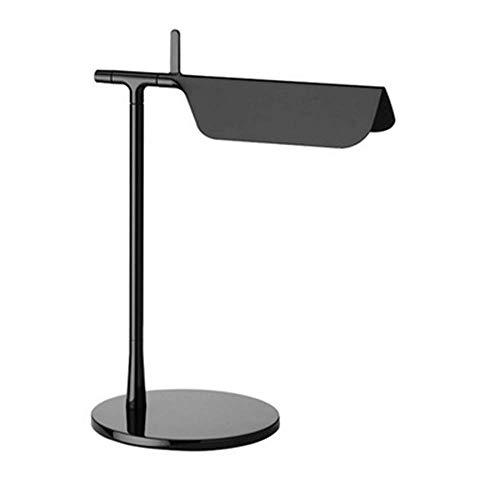 * Led-tafellamp van smeedijzer in retro-stijl, rond frame, alles staal, eenvoudige gebogen scherm, verlichting, bank, woonkamer, slaapkamer, leesapparaat.