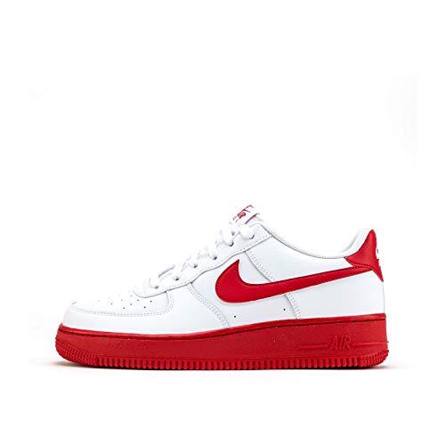 Nike Jungen AIR Force 1 (GS) Basketballschuh, White Univ Red White, 38.5 EU
