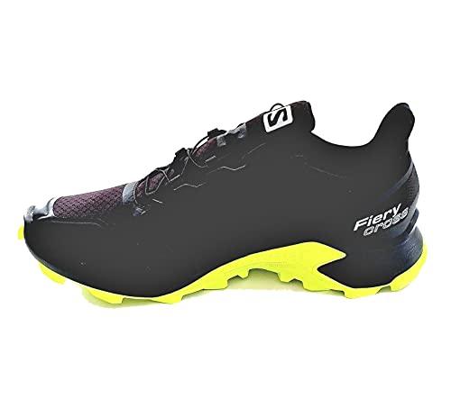 Salomon Fierycross GTX Gore-Tex - Zapatillas de running para hombre, color Negro, talla 43 1/3 EU