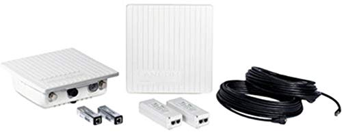 LANCOM OAP-821 Bridge Kit Access Point mit bis zu 867 MBit/s - jeweils 2x OAP-821, PoE-Injektoren, 15 m Ethernetkabel, Montagesatz für Wand- und Mastbefestigung, LANseitige Überspannungsschutzadapter