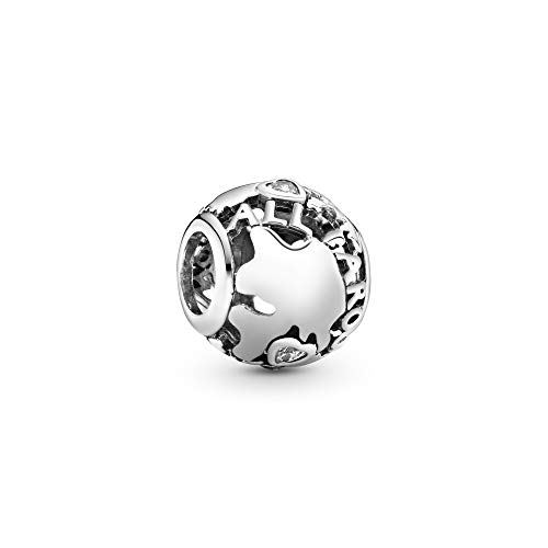 Pandora Damen-Bead Around The World 925 Silber Zirkonia transparent - 791718CZ