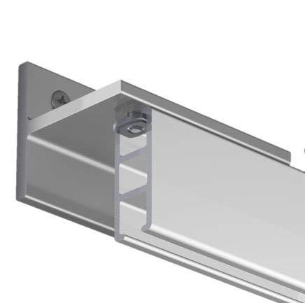 Gardineum 160 cm Innenlaufschiene, alle Längen bis 4,60 m möglich, Vorhangschiene, Gardinenschiene, Aluminium, weisse, glatte Oberfläche