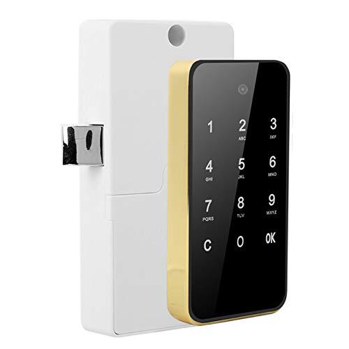 Verrouillage de l écran Tactile Verrouillage électronique de l armoire Smart Lock, pour Les saunas, pour Les piscines(Golden)