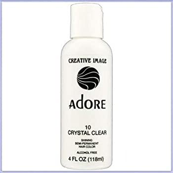 RINSE OUT SEMI-PERMANENT HAIR COLOUR CRYSTAL CLEAR 10  118ML by Adore