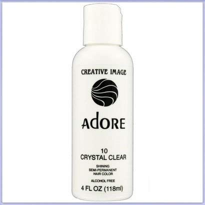 RINSE OUT SEMI-PERMANENT HAIR COLOUR CRYSTAL CLEAR(10) 118ML by Adore