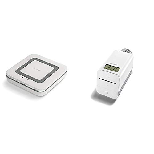 Bosch Smart Home Rauchmelder Twinguard mit Luftqualitätsmessung (Bosch Smart Home System) & Heizkörper-Thermostat mit App-Funktion (Variante Deutschland - kompatibel mit Google Assistant und Alexa)