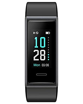 Willful Fitness Tracker 2020 New Version IP68 Waterproof, Fitness Watch Heart Rate Monitor with Calories/Step Counter Sleep Tracker Stopwatch Health Tracker Fit Watch for Men Women Kids (Black)