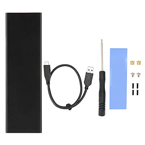 Caja de Disco Duro Externo USB, duplicador de Disco Duro móvil Protocolo SATA M.2 Caja de SSD Tipo C Caja de Disco Duro de 5 Gbps