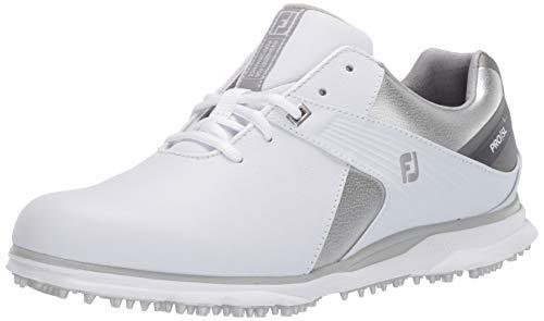 FootJoy Women's Pro/SL Golf Shoes, White/Silver/Grey, 7.5 M US
