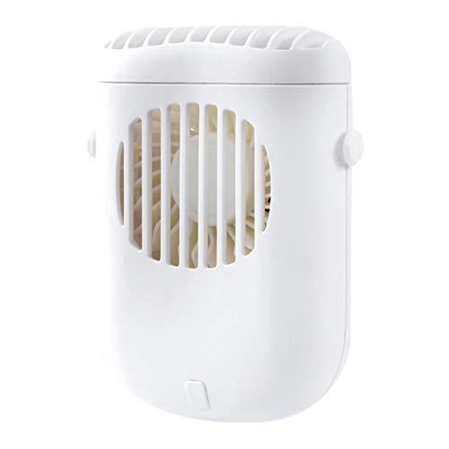 Sonline Producto USB de Mano RefrigeracióN Cuello Colgante Ventilador PequeeO Ventilador PortáTil Deportivo Perezoso Blanco