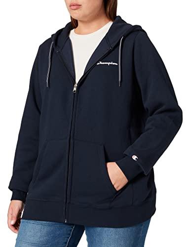 Champion Damska bluza z kapturem Plus Size Full Zip, niebieski (Bleu Marine), XL