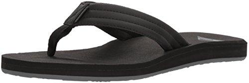 Quiksilver Men's Carver Tropics Sandal, Black/Black/Grey, 14 M US