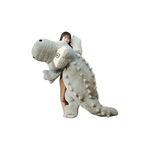 HUOQILIN Krokodil knuffel pop kussen poppen pop naar bed lange kussen gift (Color : Gray, Size : 150cm)