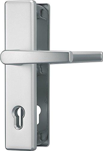 ABUS Tür-Schutzbeschlag HLS214 F1, mit beidseitigem Drücker, aluminium 21035 (die Verpackung kann variieren)