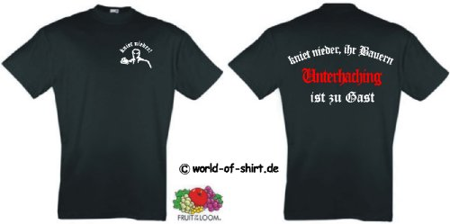 world-of-shirt Herren T-Shirt Unterhaching Ultras kniet nieder