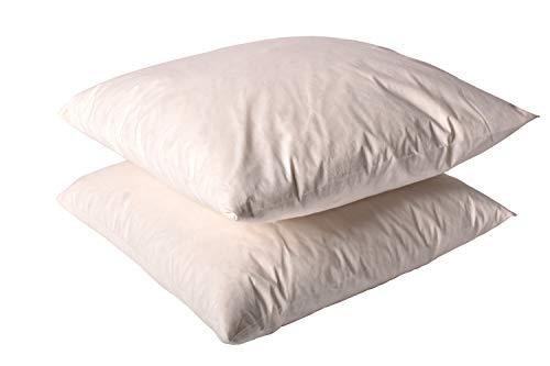 "Original Sleep Company Duck Feather Cushion Pad Insert Inner 16"" x 16"" (40cm x 40cm) UK MADE - 2 Pack"