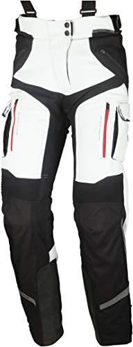 Modeka Panamericana Damen Motorrad Textilhose Hellgrau/Schwarz 76